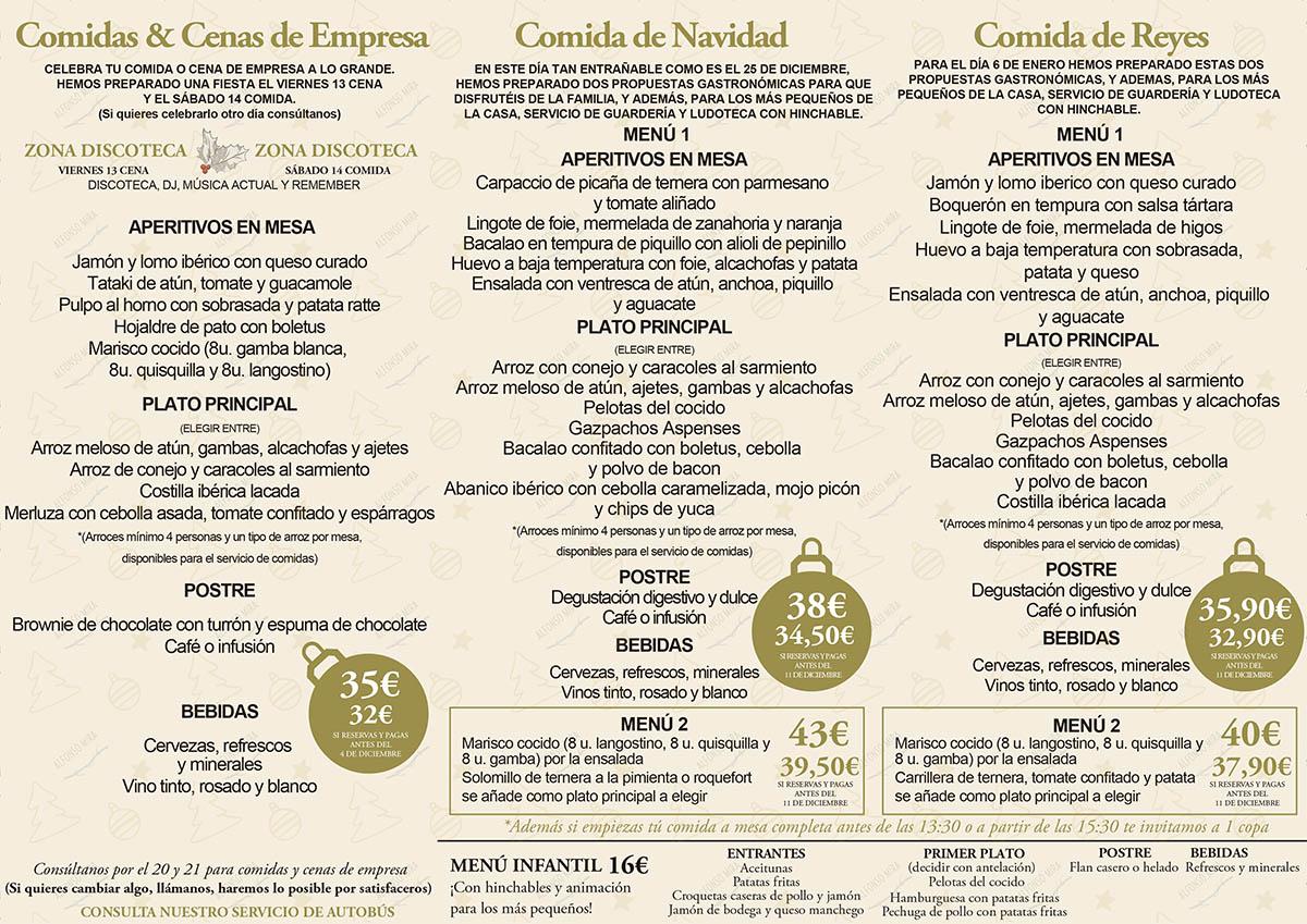 menus navidad 2019